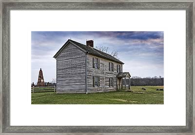 Henry House At Manassas Battlefield - Virginia Framed Print by Brendan Reals