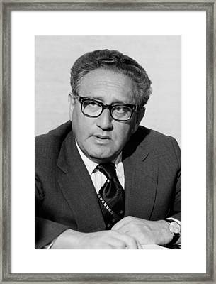 Henry Kissinger As Secretary Of State Framed Print by Everett