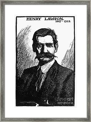 Henry Lawson (1867-1922) Framed Print by Granger