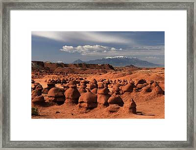 Henry Mountains Framed Print by David Hogan