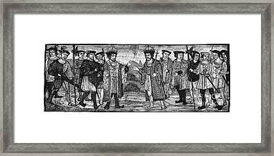 Henry Viii & Francis I Framed Print by Granger