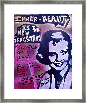 Hepburn Gangstah Framed Print by Tony B Conscious
