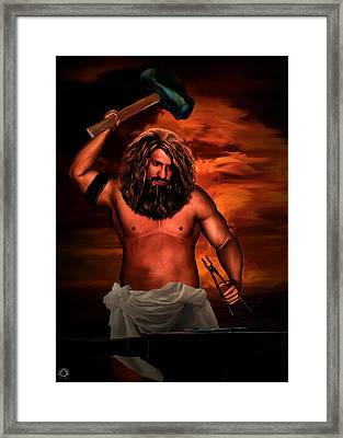 Hephaestus Framed Print by Lourry Legarde