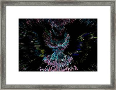 Her Cosmic Dress Or Flight Framed Print by Marie Jamieson