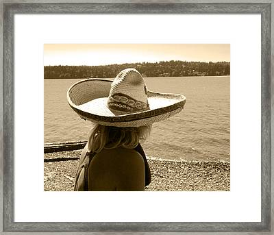 Her Day At The Beach Framed Print