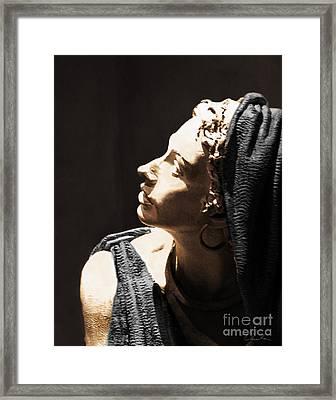 Her Profile Framed Print by Danuta Bennett