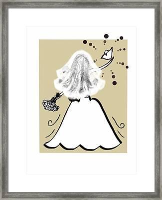 Her Wedding Day Framed Print