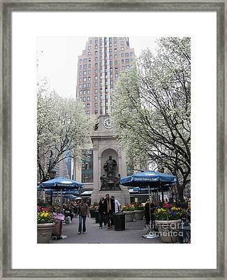 Framed Print featuring the photograph Herald Square by Dora Sofia Caputo Photographic Art and Design