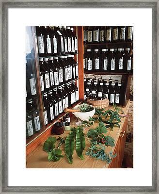 Herbal Pharmacy Framed Print by Tek Image