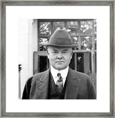 Herbert Hoover - President Of The United States Of America - C 1924 Framed Print