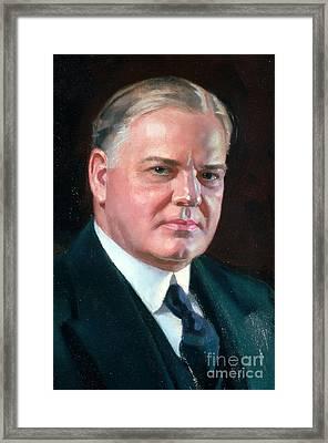 Herbert Hoover, 31st American President Framed Print