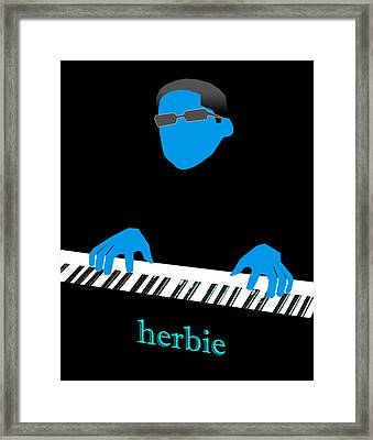 Herbie Blue Framed Print by Victor Bailey