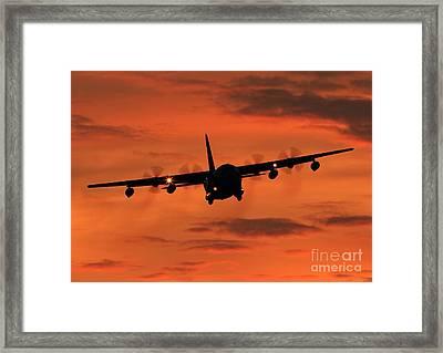 Herculean Sunset  Framed Print by Clare Scott