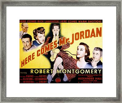 Here Comes Mr. Jordan, James Gleason Framed Print