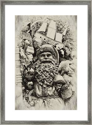 Here Comes Santa Claus Framed Print by Bill Cannon