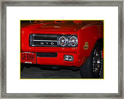 Here Comes The Judge Framed Print by DigiArt Diaries by Vicky B Fuller