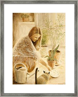 Here Kitty Framed Print by Rita Bentley