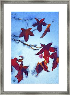 Framed Print featuring the digital art Here Today by Holly Ethan