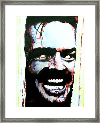 Here's Johnny Framed Print by Brian Carlton
