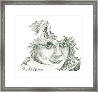 Here's Looking At You Framed Print by Michael Swanson