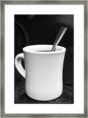 Here's Your Coffee Can I Get You Anything Else? Framed Print by Stephani JeauxDeVine