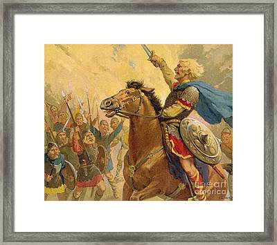 Hereward The Wake Framed Print by van der Syde