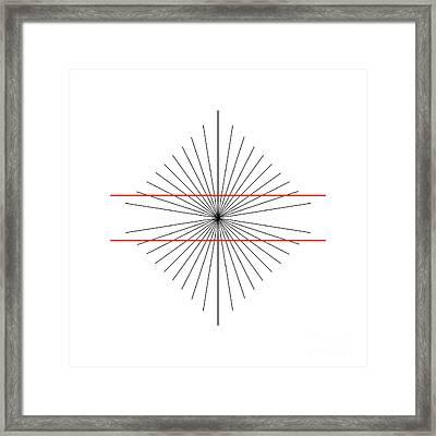 Hering Illusion Framed Print