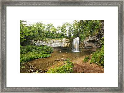 Herisson Waterfalls Framed Print