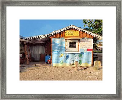 Heritage Kitchen Grand Cayman Framed Print by James Brooker