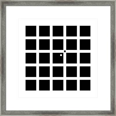 Hermann-hering Illusion Framed Print by
