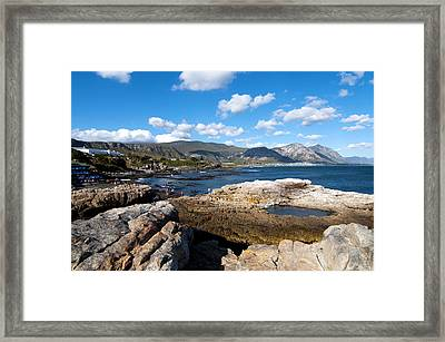 Hermanus Coastline Framed Print by Fabrizio Troiani