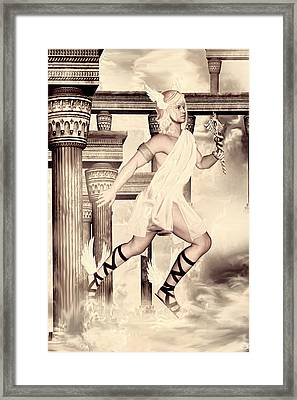 Hermes Framed Print by Lourry Legarde