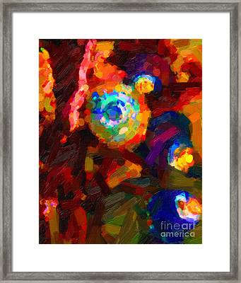 Hermit Crabs In Abstract Framed Print by Wingsdomain Art and Photography