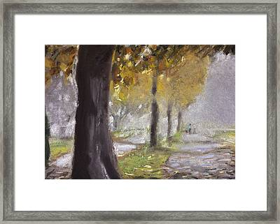 Herne Bay Park Fog 1 Framed Print by Paul Mitchell