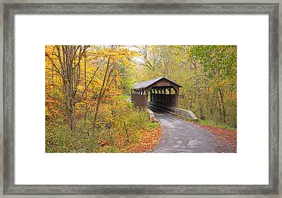 Herns Mill Covered Bridge Framed Print