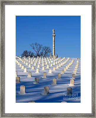 Heroes Peaceful Rest Framed Print by David Bearden