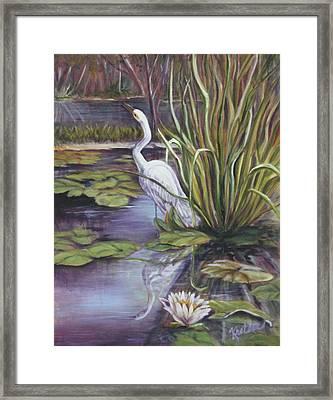 Heron Standing Watch Framed Print