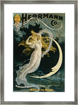 Herrmann Maid Of The Moon Framed Print by Unknown