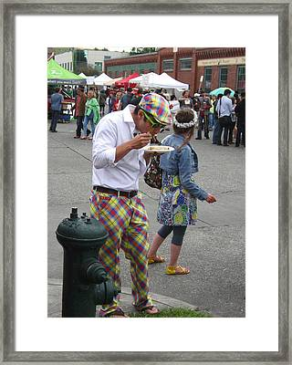 He's A Wild And Crazy Guy Framed Print by Kym Backland