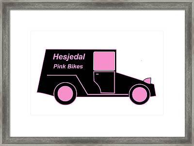 Hesjedal Pink Bikes - Virtual Car Framed Print by Asbjorn Lonvig