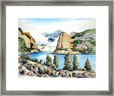 Framed Print featuring the painting Hetch Hetchy by Terry Banderas
