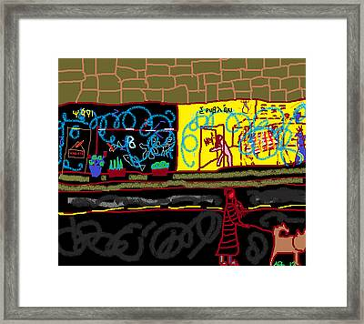 Framed Print featuring the painting Hey by Anita Dale Livaditis
