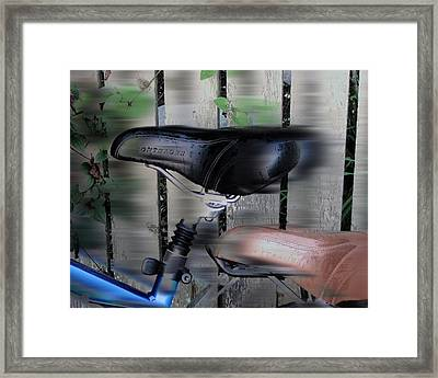 Hey Wait For Us Bicycles Framed Print by Rene Crystal