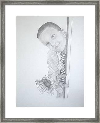 Hi Mum Framed Print by Peter Edward Green