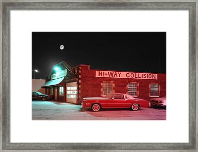 Hi-way Collision Framed Print by James Rasmusson