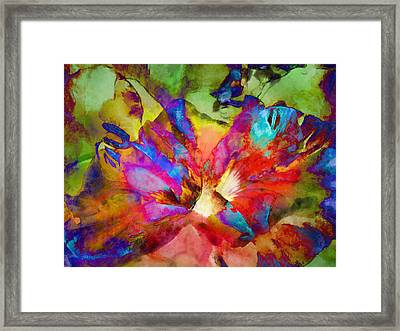 Hibiscus Abstract Framed Print