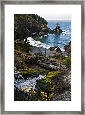 Hidden Cove Framed Print by Jake Johnson