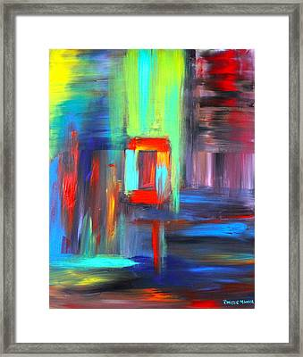 Framed Print featuring the painting Hidden Door by Christie Minalga