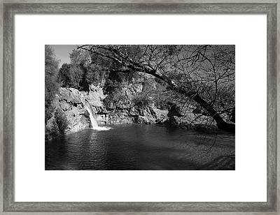 Hidden Falls Framed Print by Jez C Self