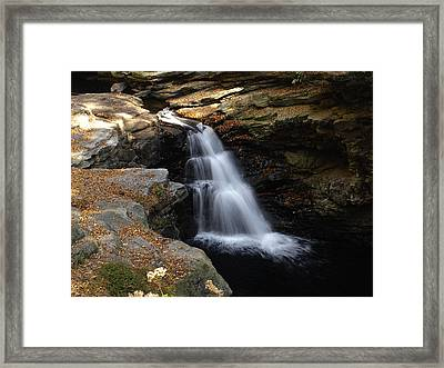 Framed Print featuring the photograph Hidden Falls by Raymond Earley